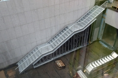 An outside staircase